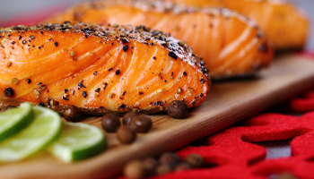 Triple Citrus Glazed Grilled Salmon