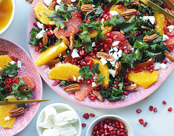 orange pomegranate organic salad