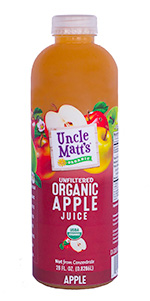 Uncle Matt's Organic 28 oz apple juice