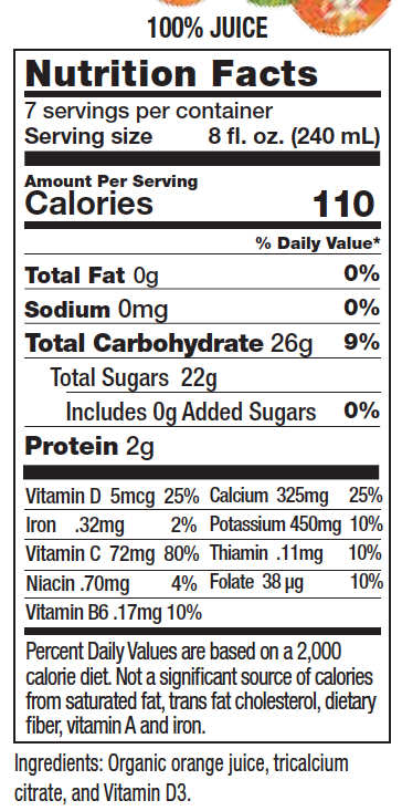 Orange Juice with Calcium & Vitamin D