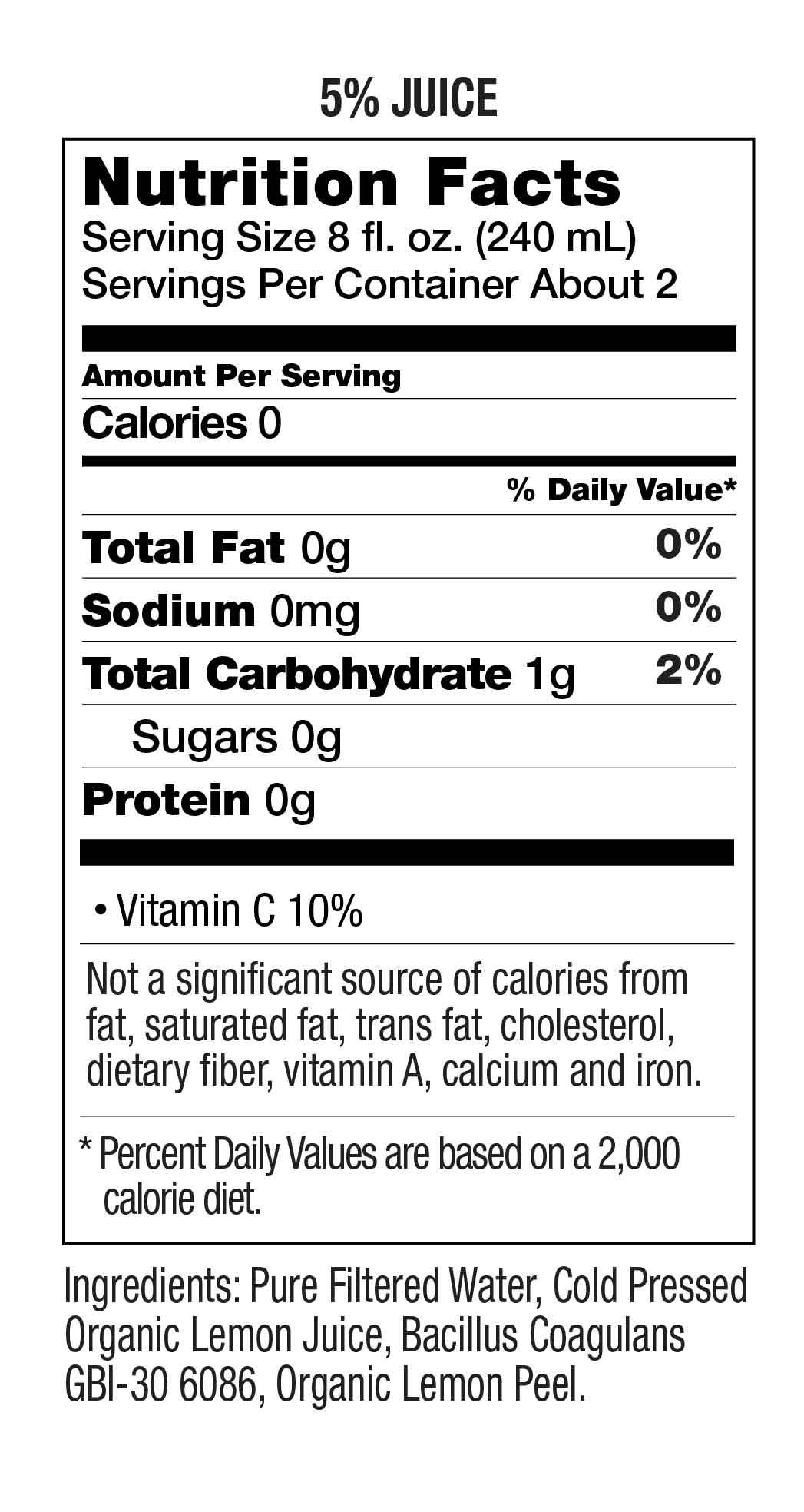 Organic Lemon Water With Probiotics Uncle Matt S Organic