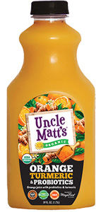 Uncle Matt's Organic Orange Juice with Turmeric and Probiotics