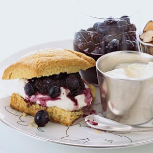 Blueberry Almond Shortcake with Crème Fraiche