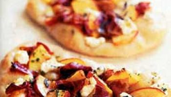 Peach, Prosciutto, and Goat-Cheese Pizzas