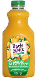 uncle matt's orange juice with pulp