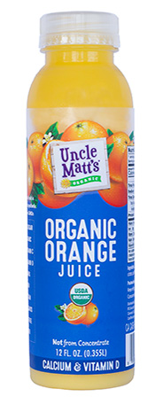 Uncle Matt's Organic Pulp Free Orange Juice with Calcium & Vitamin D