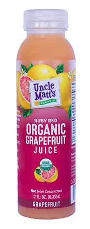 12 oz. Organic Grapefruit Juice