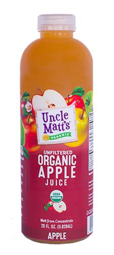 Uncle Matt's Organic 28 oz Apple Juice
