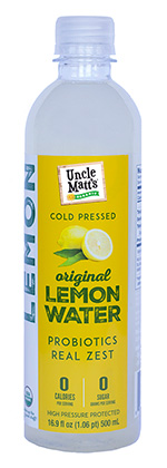 Cold Pressed Lemon Water with Probiotics