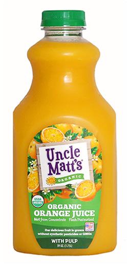 Uncle Matt's Organic Orange Juice with Pulp