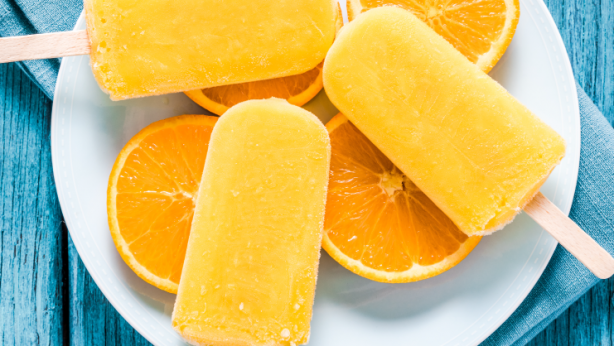 orange turmeric pineapple organic popsicles