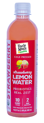 Cold Pressed Lemon Strawberry Water with Probiotics