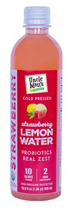 Uncle Matt's Organic Lemon Strawberry Water with Probiotics