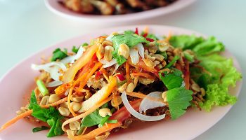 Thai Salad with Orange Peanut Dressing