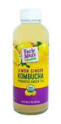 Uncle Matt's Lemon Ginger Kombucha