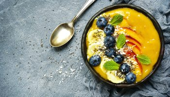 Orange Mango Turmeric Smoothie Bowl