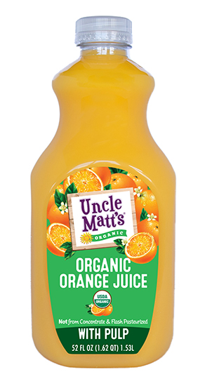 Uncle Matt's Organic Orange Juice with Pulp