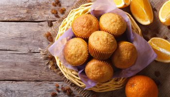 Orange Carrot Oat Muffins