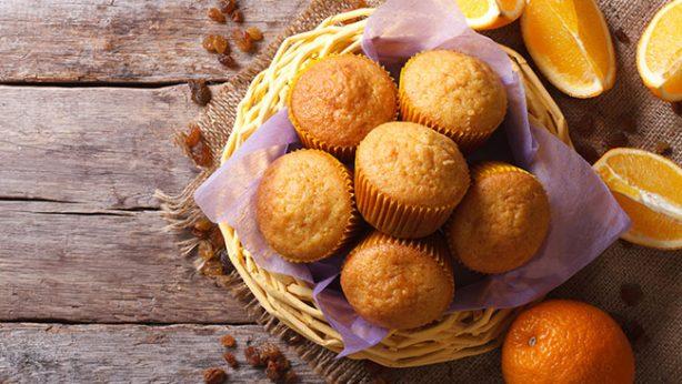 Organic Orange Oat Muffins