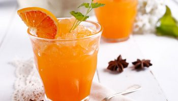 Orange and Champagne Granita