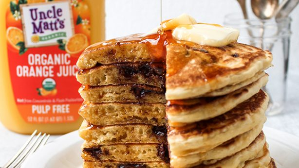 Orange Chocolate Chip Pancakes