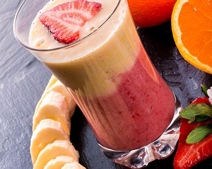 Orange Strawberry Organic Smoothie
