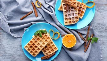Citrus Pecan Waffles