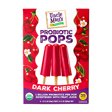 Uncle Matt's Organic Dark Cherry Probiotic Popsicles