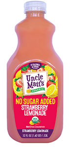 Uncle Matt's Organic No Sugar Added Strawberry Lemonade