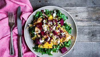 Orange Beet Chicken Salad