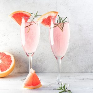 Grapefruit Mimosa with Rosemary