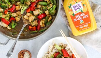 Orange Chicken Stir Fry with Veggies