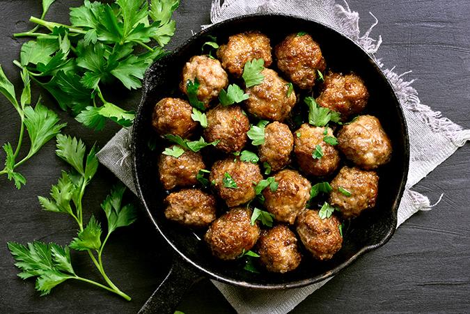 Organic Orange Meatballs