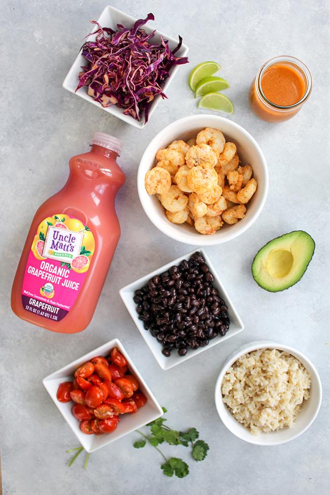 Paloma Shrimp Power Bowl Ingredients