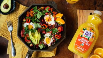 Mixed Veggie Hash with Eggs