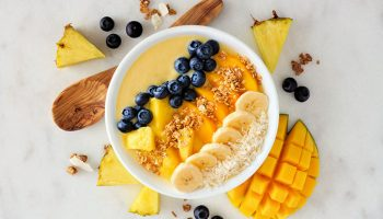 Pineapple Orange Mango Smoothie Bowl