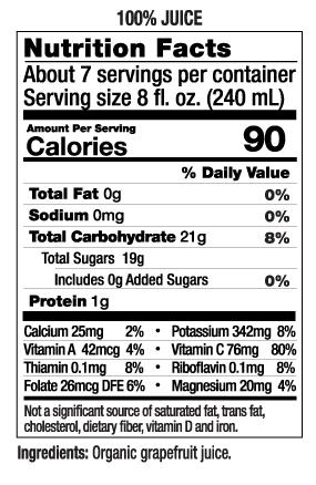 52 oz Grapefruit Nut Facts