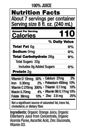 52 oz Ultimate Immune Nutrition Facts