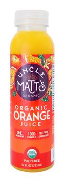 Uncle Matt's 12 oz Pulp Free Orange Juice