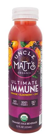 Uncle Matt's Organic Orange Juice with Turmeric and Probiotics