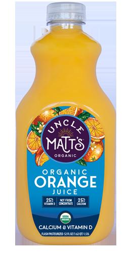 Uncle Matt's Organic Orange Juice with Calcium & Vitamin D