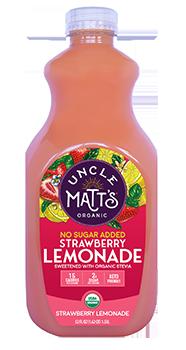 Uncle Matt's Organic No Sugar Added Strawberry Lemonade