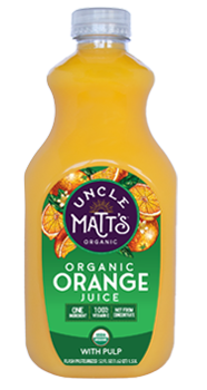 uncle matt's orange juice with pulp